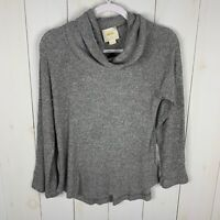 Maeve Anthropologie Womens Gray Size Small Cowl Neck Long Sleeve Sweater