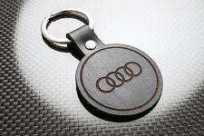 AUDI Leather Keyring Keychain Schlüsselring Porte-clés A3 A4 A5 A6 A7 Q3 Q7 TT