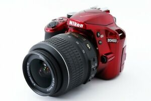 Nikon D3400 Digital SLR 24.2MP 18-55mm Lens Kit Red [Exc+++] w/8GB SD Card [409]