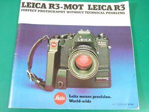 Leitz LEICA R3 MOT CAMERA Perfect Photography... BROCHURE English 1980 48pp