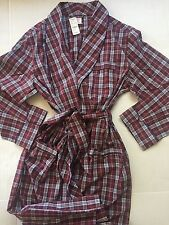NWT$118 Brooks Brothers Men's Bath Robe Lounge Sleep Casual House Coat Sz-Medium