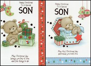 'SON' CHRISTMAS GREETING CARD - QUALITY - CUTE -  MULTIPLE DESIGN'S - FREE P&P