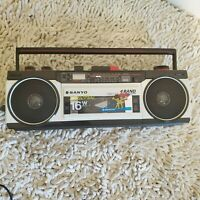 Sanyo Stereo Radio Cassette Recorder. It is an AM/FM Stereo with quartz timer an