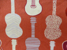 Musical Instruments Fabric Fat Quarter Cotton Craft Quilting GUITAR