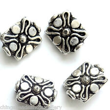 20 Tibetan Silver 12x9mm Beads Jewellery Making