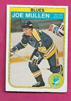 1982-83 OPC  # 307 BLUES JOE MULLEN  ROOKIE GOOD CARD  (INV# C2441)