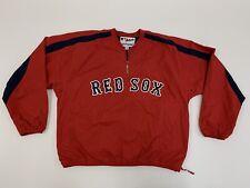 Majestic Authentic Half Zip Pullover Windbreaker Jacket Boston Red Sox Large L
