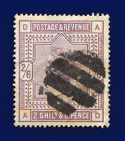 1884 SG178 2s6d Lilac K10(1) AD Fair Used Cat £160 cptr
