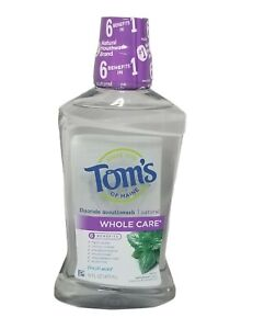 Tom's of Maine Whole Care Natural Fresh Mint Mouthwash 16 oz UL7