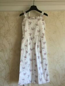 NWT Janie And  Jack Girls Floral Jumpsuit  5 5T White