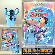 Lilo & Stitch MINIFIGURE + Display Case Disney Lego Type Custom Collectible 251z