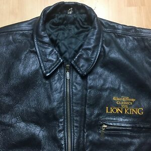 WALT DISNEY THE LION KING LEATHER BOMBER OFFICIAL GENUINE JACKET LARGE