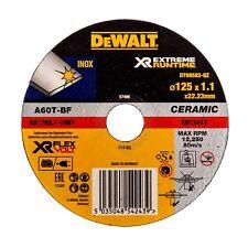 2x DeWalt EXTREME RUNTIME METAL CUTTING DISC 125x1.1mm Ceramic Grain INOX