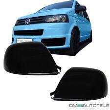 SET VW T5 GP Facelift Außenspiegelabdeckung Gehäuse Schwarz LACKIERT+ Amarok