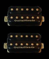 Guitar Parts GUITARHEADS PICKUPS GOLD RUSH HUMBUCKER - Bridge Neck SET 2 - BLACK