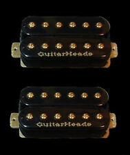 Guitar Pickups - GUITARHEADS GOLD RUSH HUMBUCKER - Bridge Neck SET 2 - BLACK