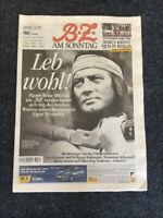 BZ Berlin 7.6.2015 WINNETOU Pierre Brice ABSCHIED TOD Cover + 4 Seiten mit Fotos
