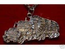 LOOK Sterling Silver 18 Wheeler Truck Pendant Charm Jewelry