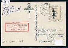 59894) Ballonpost Niederlande Lichtenvoorde 7.7.56 St.Cecilia signed by Pilot