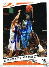 MARCUS CAMBY SIGNED IN-PERSON IP 2005 TOPPS NUGGETS CARD ~AUTHENTIC
