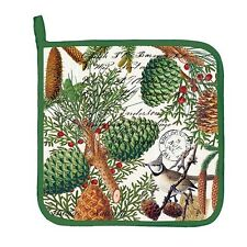 Michel Design Works Cotton Kitchen Potholder Spruce Berries Bird - NEW