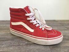 VANS Classic Sk8 Hi Red Canvas Lace Up Skate Shoes Men's Size 5  Women's 6.5