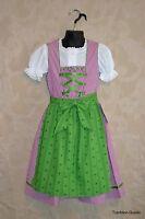 German Children's Trachten Dirndl Dress Oktoberfest Sizes 4-10 (Euro 104-140)