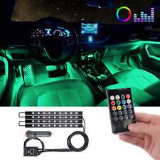 4X 9 Rbg Led Car Interior Atmosphere Neon Light Strip Wireless Ir control 12V