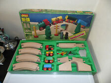 BRIO Vintage Wooden Railway Train Set Figure of 8 No. 33136 Boxed Made in Sweden
