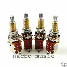 Set of 4 Bourns 500K Long Shaft Push-Pull Potentiometers / Pots Jimmy Page Mod