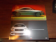 2000 Audi TT Deluxe 24-Page Sales Catalog with Color & Trim Selector/ 2 Pieces