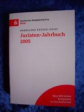 """""""Juristen-Jahrbuch 2005"""" von Hannelore Krüger-Knief"""