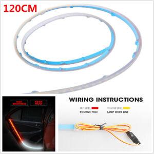 120CM Car SUV Door LED Atmosphere Light Strip Sequential Flow Lamp Illuminating