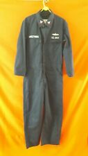 Vintage Retro Jumpsuit Boilersuit Blue Oversize Size M