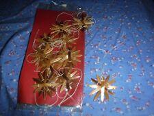 "Package 12 Wicker Star Snowflake Christmas Ornaments  Cute 1 11/16"" Wide"