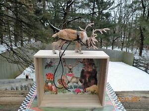 Artisan OOAK Dollhouse Miniature Realistic Reindeer Patricia Cabrera Woolytales