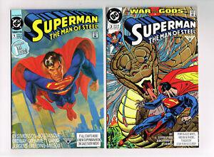 SUPERMAN THE MAN OF STEEL #1,3,4,20,21,22 ANNUAL #1 D C COMICS 7-LOT 1991 NM OB
