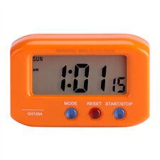 LCD Digital Time & Date Alarm Clock Stop Watch Snooze With Night Light Desktop
