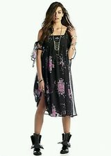 $128.00 Free People Midnight C Flare Floral Black Size Small S/P RARE