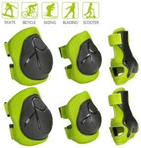 6* Schutzausrüstung Set Knieschoner Für Kinder Handgelenkschoner Ellenbogen Pads