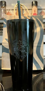 Starbucks Christmas 2020 Green Black Stainless Steel Tumbler Venti Cold Cup 24oz