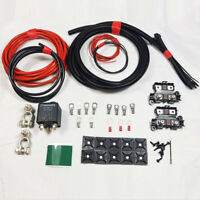 HIGH QUALITY LIGHT DUTY SPLIT CHARGE KIT 12V 100AMP RELAY 1MTR  50 AMP CABLE