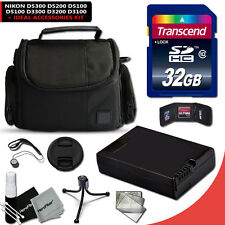 32GB Memory Accessories KIT f/ Nikon D3200 w/ ENEL-14 Battery + Case + MORE