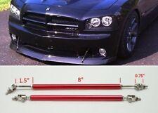 "Red 8"" Adjustable Rod Support for Toyota Scion  Bumper Lip Diffuser Spoiler"