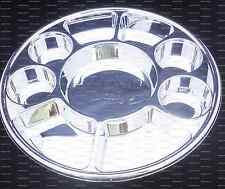 Silver Nine Compartment plastic plate or Plastic Thali - 50 plates