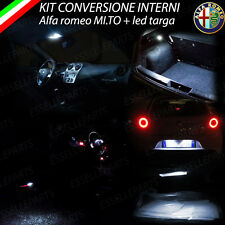 KIT FULL LED INTERNI ALFA ROMEO MITO CONVERSIONE COMPLETA  + LED TARGA CANBUS