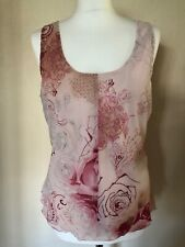 Ana Susa Pink Floral Top Size 14 BNWT