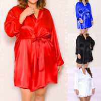 Sexy Womens Lingerie Dress Long Bath Robe Gown Babydoll Nightwear Sleepwear