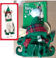 "PetCo""Time 4 Joy""XS/S Dog CAT""Santa Elf""Hat Collar Boot Xmas#Elfie Holiday Tails"