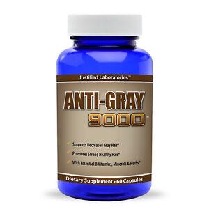 Anti Gray Hair 9000 Saw Palmetto Catalase Horsetail Restore Natural Hair Color